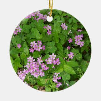 Ornamento De Cerâmica Wildflowers delicados cor-de-rosa pequenos