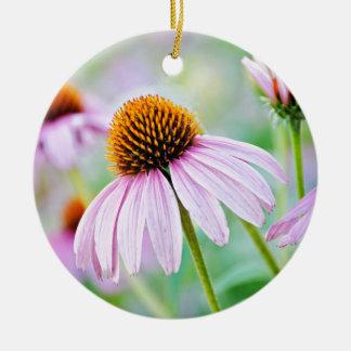 Ornamento De Cerâmica Wildflowers roxos