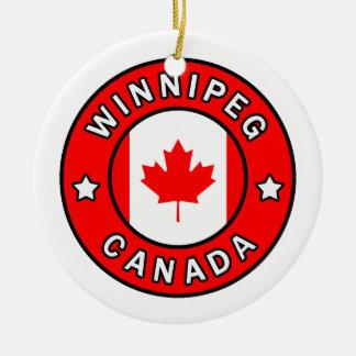 Ornamento De Cerâmica Winnipeg Canadá