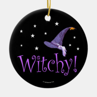 Ornamento De Cerâmica Witchy