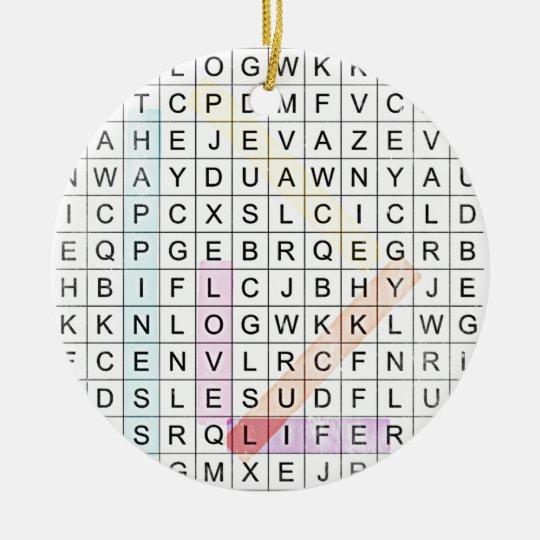 Ornamento De Cerâmica Word Search