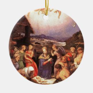 Ornamento De Cerâmica Worship_of_the_shepherds_by_bronzino