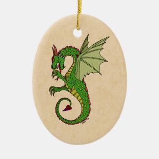 Ornamento De Cerâmica Wyvern