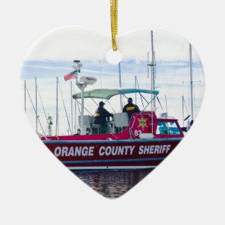 Ornamento De Cerâmica Xerife do Condado de Orange