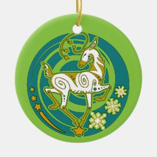 Ornamento De Cerâmica Xmas 2017 da rena de Holidaze do vison