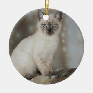 Ornamento De Cerâmica XMAS Cats