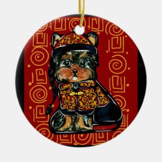 Ornamento De Cerâmica Yorkie Poo, cão do ano 2018!