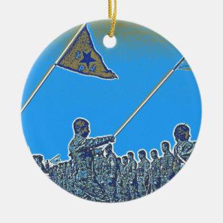 Ornamento De Cerâmica YPG curdos - YPJ Figters do cargo do Curdistão de