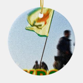 Ornamento De Cerâmica YPG - Lutadores curdos da liberdade de Kobani v2