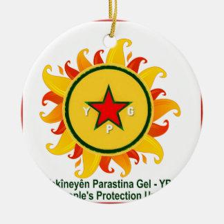 Ornamento De Cerâmica ypg - sol 2