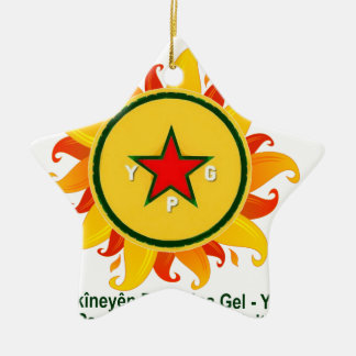 Ornamento De Cerâmica ypg - sol 2 a