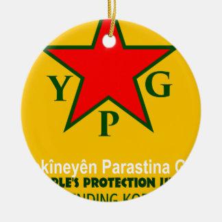 Ornamento De Cerâmica ypg-ypj - kobani do apoio