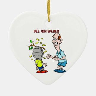 Ornamento De Cerâmica Zangão do Whisperer da abelha dos amantes das