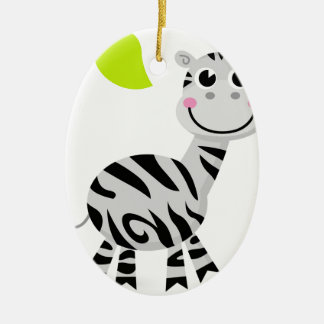 Ornamento De Cerâmica Zebra bonito das crianças
