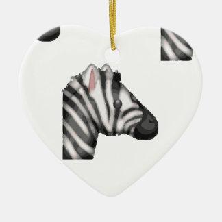 Ornamento De Cerâmica zebra do emoji