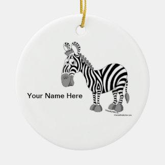 Ornamento De Cerâmica Zebra - homem
