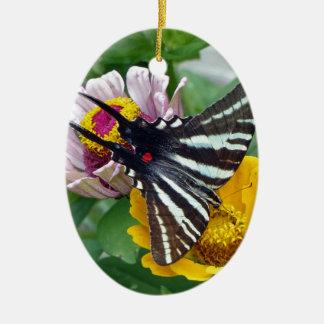 Ornamento De Cerâmica Zebra Swallowtail+Besouro japonês