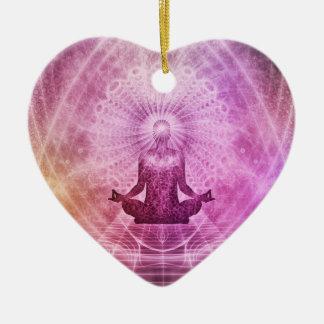 Ornamento De Cerâmica Zen espiritual da meditação da ioga colorido