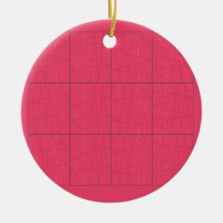 Ornamento De Cerâmica Ziguezague cor-de-rosa dos elementos do design