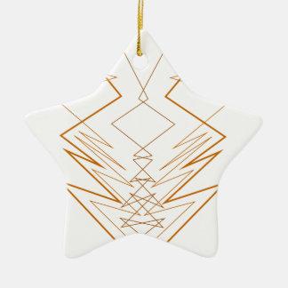 Ornamento De Cerâmica Ziguezague dos elementos do design no branco
