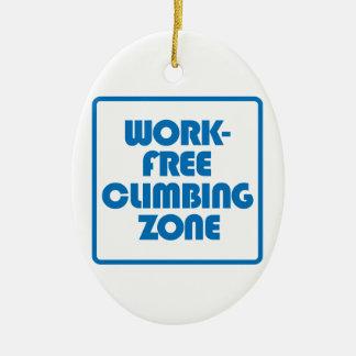 Ornamento De Cerâmica Zona de escalada livre do trabalho