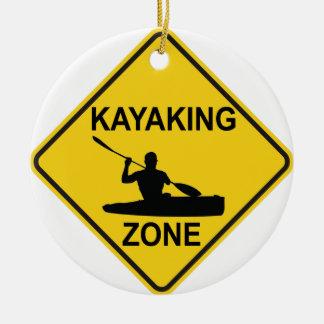 Ornamento De Cerâmica Zona Kayaking