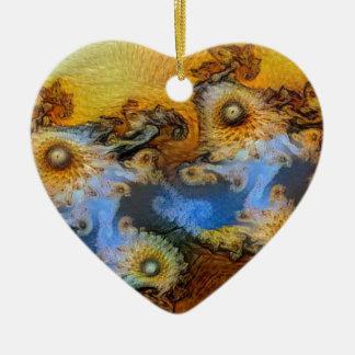 Ornamento De Cerâmica Zumbido de Mandelbrot do vale do cavalo marinho de