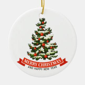 Ornamento de Ceraminc da árvore do natal vintage