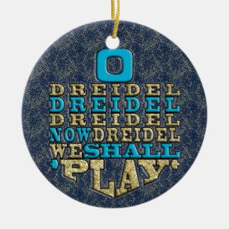 "Ornamento de /Circle de Hanukkah ""O Dreidel"