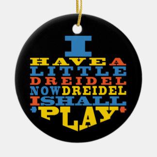 "Ornamento de /Circle do jogo de Hanukkah ""Dreidel"""