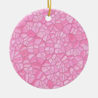 Ornamento de cristal cor-de-rosa