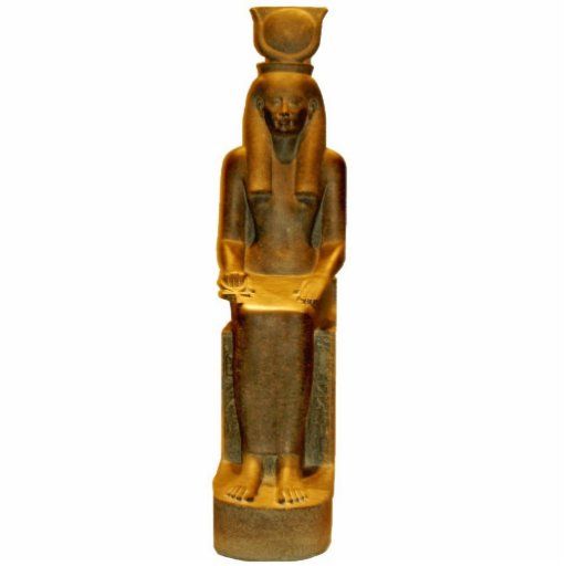 Ornamento de Hathor Escultura Foto