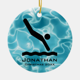Ornamento de mergulho personalizado