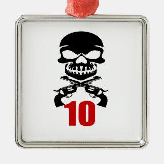 Ornamento De Metal 10 designs do aniversário