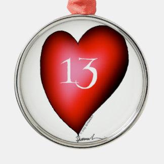 Ornamento De Metal 13 dos corações