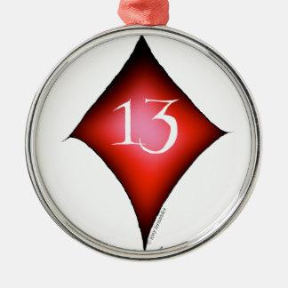 Ornamento De Metal 13 dos diamantes