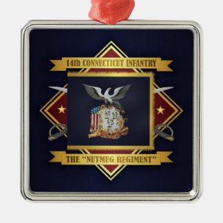 Ornamento De Metal 14o Infantaria voluntária de Connecticut