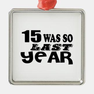 Ornamento De Metal 15 era assim tão no ano passado o design do