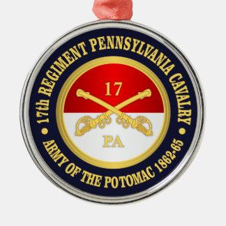 Ornamento De Metal 17o Cavalaria de Pensilvânia