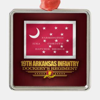 Ornamento De Metal 19o Infantaria de Arkansas (F10)