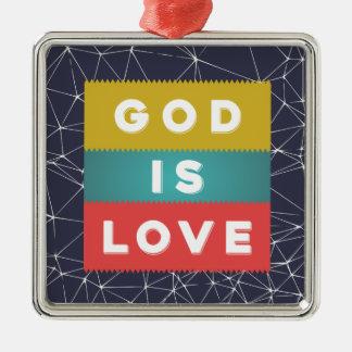 Ornamento De Metal 1 4:8 de John - o deus é amor