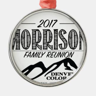 Ornamento De Metal 2017 artigos da reunião de Morrison - fundo CLARO