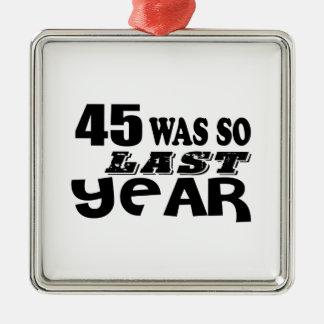 Ornamento De Metal 45 era assim tão no ano passado o design do