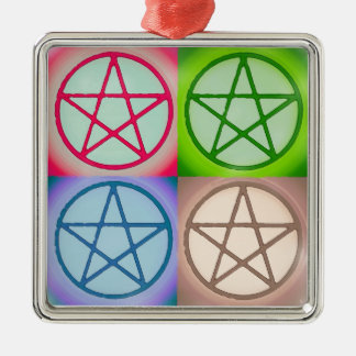 Ornamento De Metal 4 pentagrams