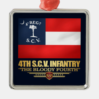 Ornamento De Metal 4o Infantaria de South Carolina