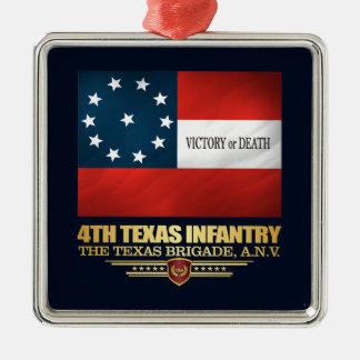 Ornamento De Metal 4o Infantaria de Texas
