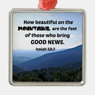 Ornamento De Metal 52:7 de Isaiah como bonito nas montanhas seja