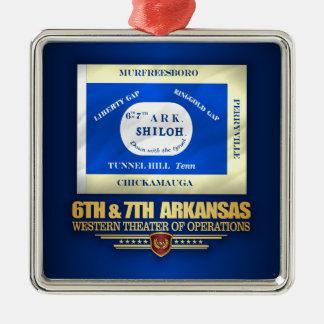Ornamento De Metal 6a & 7a infantaria de Arkansas (consolidada)