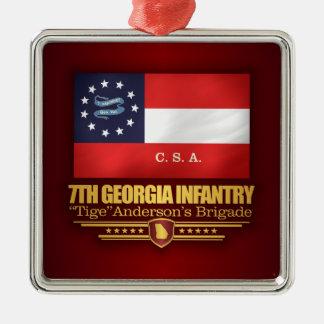 Ornamento De Metal 7o Infantaria de Geórgia (2)