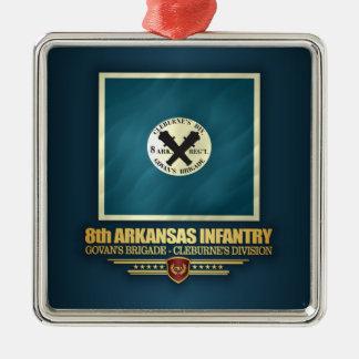 Ornamento De Metal 8o Infantaria de Arkansas